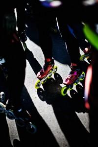 Løb på rulleskøjter på Vestvolden